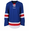 New York Rangers Reebok Edge Gamewear Uncrested Junior Hockey Jersey