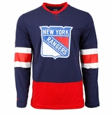 New York Rangers Reebok Face-Off Jersey Sr. Long Sleeve Shirt