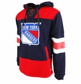 New York Rangers Reebok Face-Off Team Jersey Sr. Hooded Sweatshirt