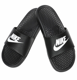 Nike Benassi JDI Boy's Sandals - Black/White