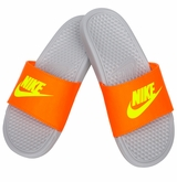 Nike Benassi JDI Boy's Sandals - Orange/Volt