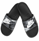 Nike Benassi JDI Men's Slide - Black/Gray/White