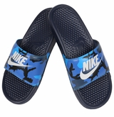Nike Benassi JDI Men's Slide - Navy/Silver/Royal
