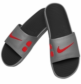 Nike Benassi Slide Men's Sandals - Gray/Black/Red