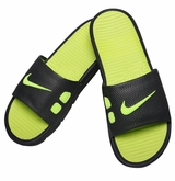 Nike Benassi Solarsoft Men's Slide Sandals - Anthracite/Volt