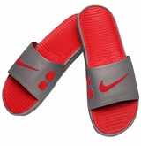 Nike Benassi Solarsoft Men's Slide Sandals - Gray/Red