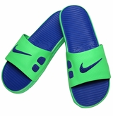 Nike Benassi Solarsoft Men's Slide Sandals - Green/Blue