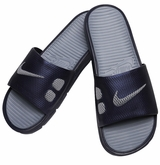 Nike Benassi Solarsoft Men's Slide Sandals - Navy/Gray