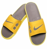 Nike Benassi Solarsoft Men's Slide Sandals - Sulfur/Gray