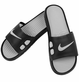 Nike Benassi SolarSoft Slide - Black/Grey