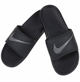 Nike Benassi Swoosh Men's Slide Sandals - Anthracite/Graphite