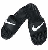 Nike Benassi Swoosh Sandals - Black