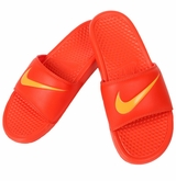 Nike Benassi Swoosh Sandals - Orange