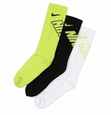 Nike Boy's Graphic Crew Socks - 3 Pack