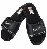 Nike Comfort 2 Men's Slide Sandals - Black/Black/Silver