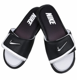 Nike Comfort 2 Men's Slide Sandals - Black/White/Silver