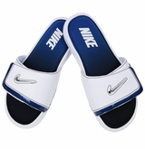 Nike Comfort 2 Men's Slide Sandals - White/Royal/Silver
