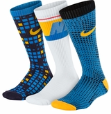 Nike Cotton Cushion Graphic Yth. Crew Socks - 3 Pack