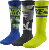 Nike Cotton Graphic Yth. Crew Socks - 3 Pack