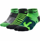 Nike Cotton Graphic Yth. Low Cut Socks - 3 Pack