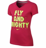 Nike Fly and Mighty Girl's Short Sleeve Shirt