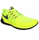 Nike Free 5.0 Boy's Training Shoes - Volt/Black
