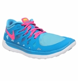 Nike Free 5.0 Girl's Training Shoes - Blue/Pink