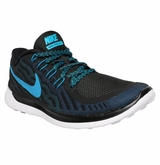 Nike Free 5.0 Men's Training Shoes - Black/Dark Electric Blue/Blue Lagoon