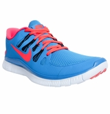 Nike Free 5.0+ Men's Training Shoes - Blue/Light Red/Black