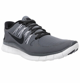 Nike Free 5.0+ Men's Training Shoes - Gray/White/Dark Gray