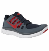 Nike Free 5.0+ Men's Training Shoes - Navy/Red/Gray