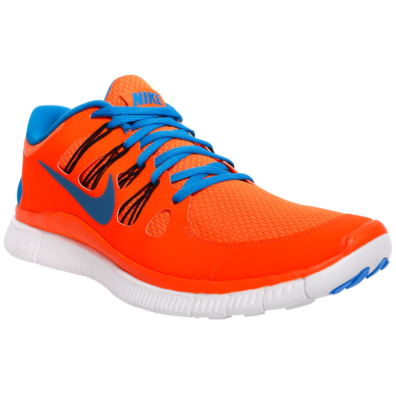 orange and blue nike free