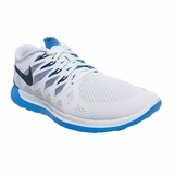 Nike Free 5.0 Men's Training Shoes - White/Blue