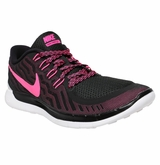 Nike Free 5.0 Women's Training Shoes - Black/Fluorescent Pink/Pink Glow