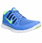 Nike Free 5.0+ Women's Training Shoes - Blue/Dark Gray/Lime