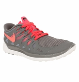 Nike Free 5.0 Women's Training Shoes - Gray/White/Punch