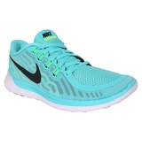Nike Free 5.0 Women's Training Shoes - Light Aqua/LT Retro/Green Glow
