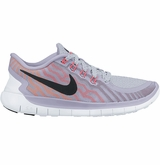 Nike Free 5.0 Women's Training Shoes - Titanium/Fucshia Flush/Hot Lava