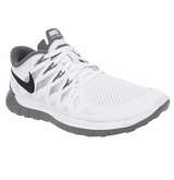 Nike Free 5.0 Women's Training Shoes - White/Gray/Black