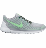 Nike Free 5.0 Women's Training Shoes - Wolf Gray/Green/Volt Green