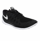 Nike Free 5.0 Youth Training Shoes - Black/White