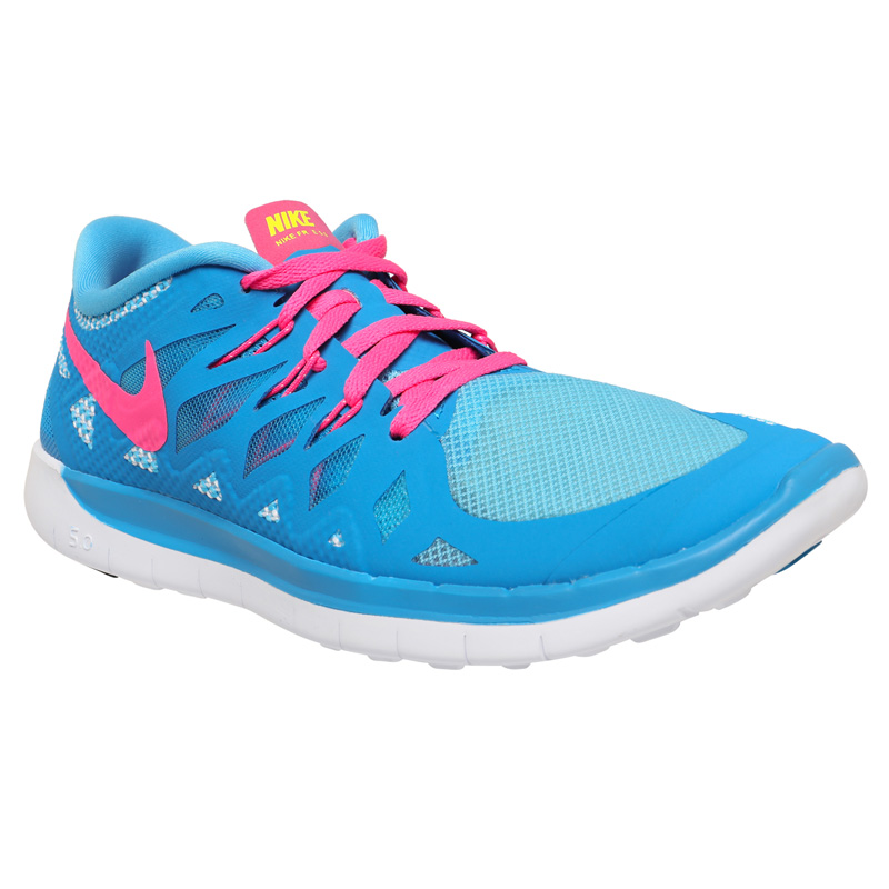 blue and pink nike free shoes vcfa