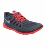 Nike Free 5.0 Youth Training Shoes - Gray/Red