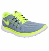 Nike Free 5.0 Youth Training Shoes - Wolf Gray/Volt