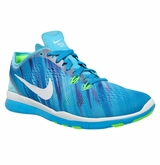 Nike Free TR Fit 5 Print Women's Training Shoes � Clearwater/Blue Lagoon/Flash Lime