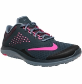 Nike FS Lite Run 2 Women's Training Shoe - Charcoal/Pink/Blue