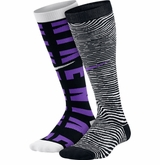 Nike Graphic Cotton Yth. Knee-High Socks - 2 Pack