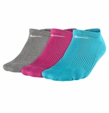 Nike Performance Cotton Women's Cushioned No-Show Socks - 3 Pack