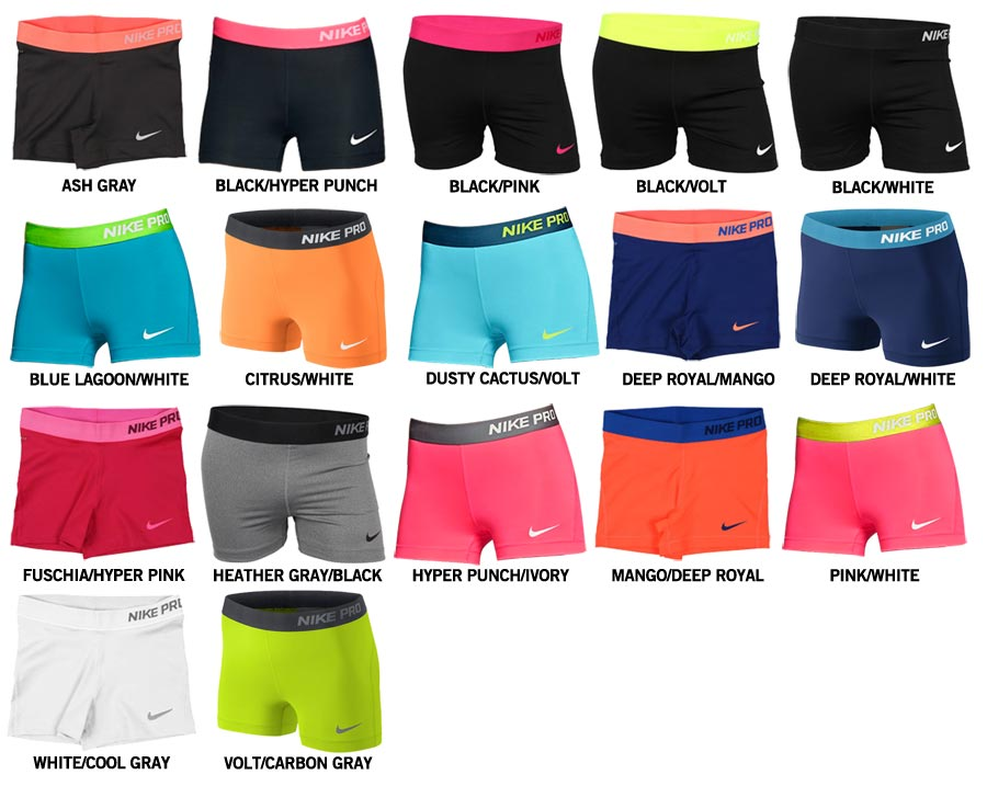 Nike Pro Shorts Girls Please Note This sizing chart