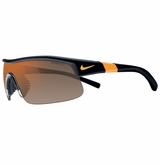 Nike Show-X1 Sunglasses - Matte Black/Orange/Gray